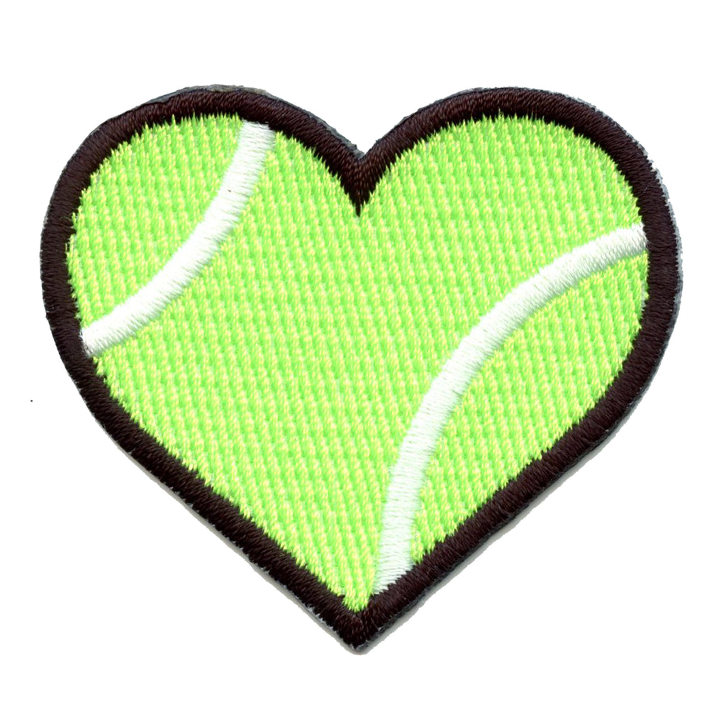 Iron On Embroidered Applique Patch Gold//Yellow Tennis Ball LARGE