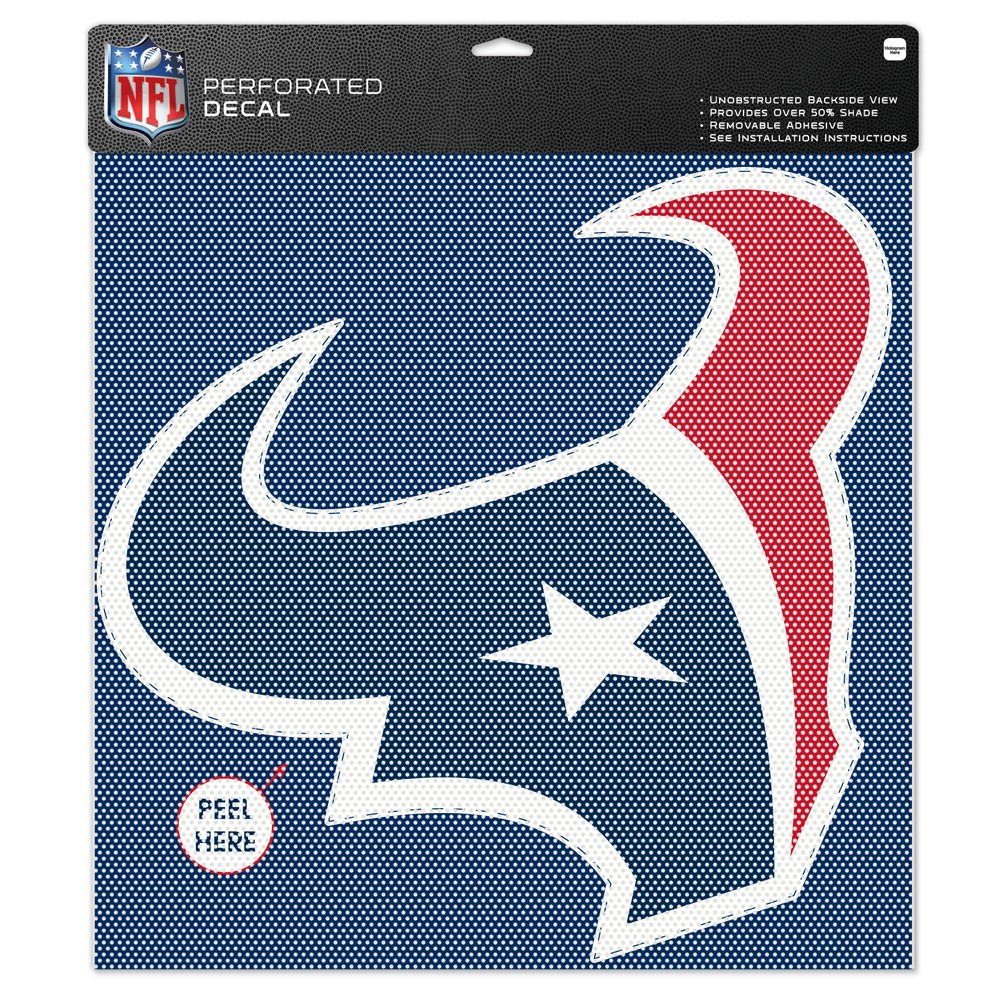 "Houston Texans Team Logo Perforated Decal 17""T x 17""W"