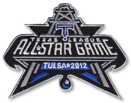 2012 Texas League MiLB All Star Game Tulsa Drillers Jersey Patch