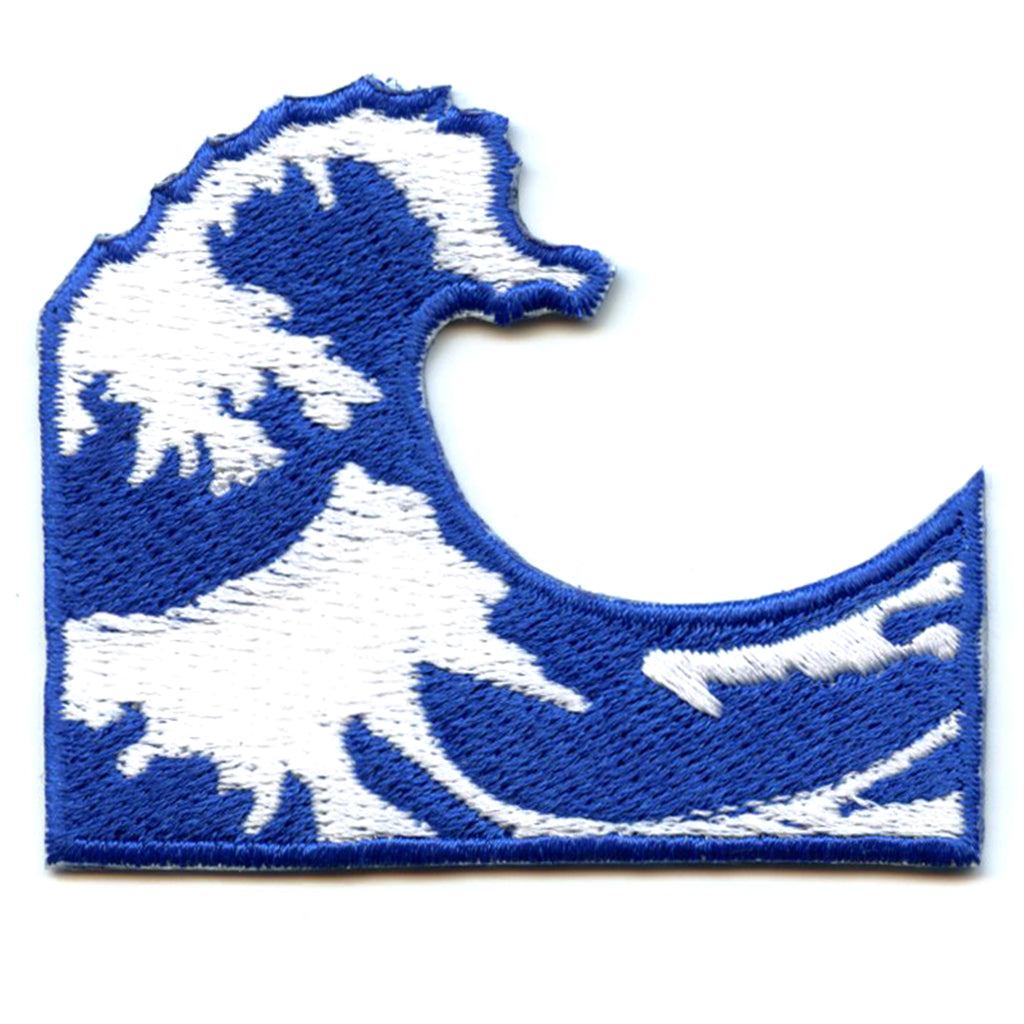 The Great Wave Emoji Iron On Applique Patch