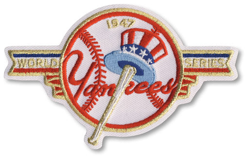 1947 New York Yankees MLB World Series Championship Jersey Patch