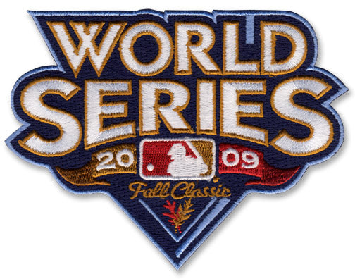 2009 MLB World Series Logo Jersey Sleeve Patch Philadelphia Phillies vs. New York Yankees