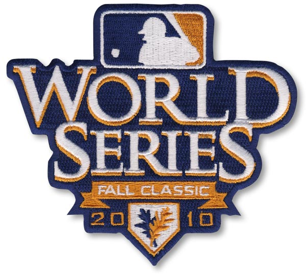 2010 MLB World Series Logo Jersey Sleeve Patch San Francisco Giants vs. Texas Rangers