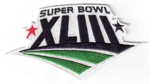 Super Bowl 43 XLIII Logo Jersey Patch Pittsburgh Steelers vs. Arizona Cardinals (2009)