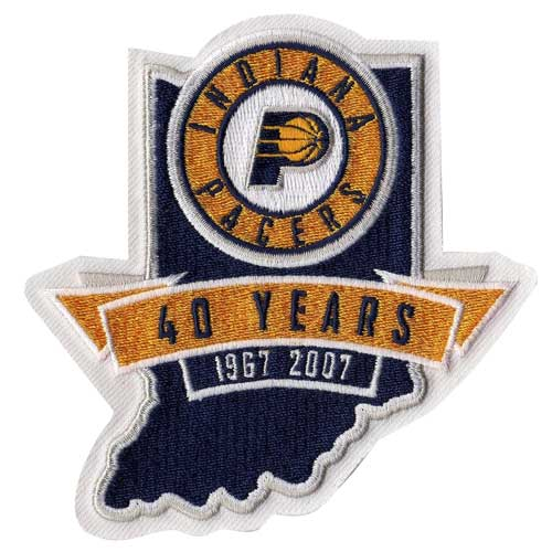 Indiana Pacers 40th Anniversary Logo Patch (2006-07)