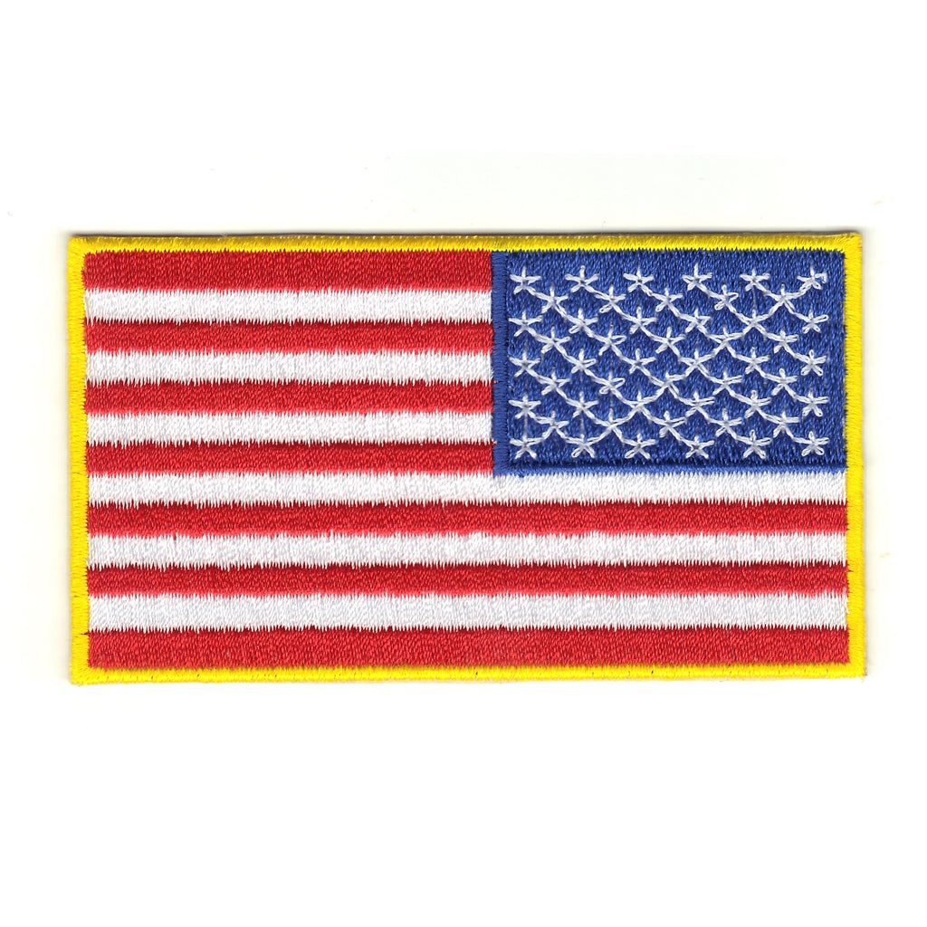 United States of America U.S.A. Military Army Color Reverse Country Flag Patch
