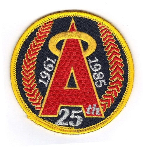 1985 California Angels 25th Anniversary Logo Patch