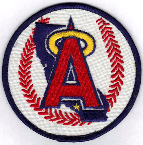 California Angels Primary Team Logo Jersey Sleeve Patch (1986-1992)
