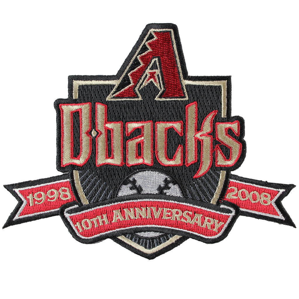 2008 Arizona Diamondbacks 10th Anniversary Patch Black Border