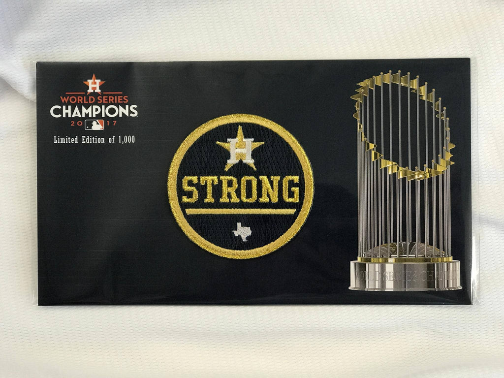 "Official Houston Astros ""Strong"" Gold Rush Jersey Patch Limited Edition"