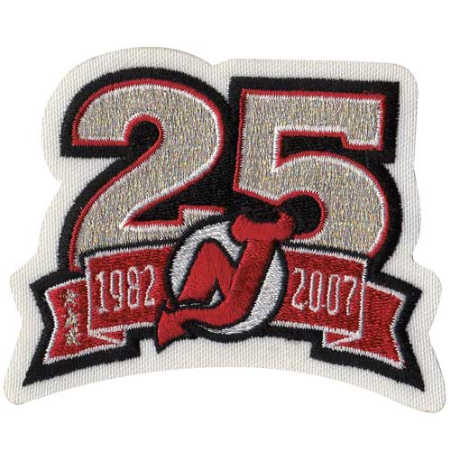 New Jersey Devils 25th Anniversary Patch (2006-07)