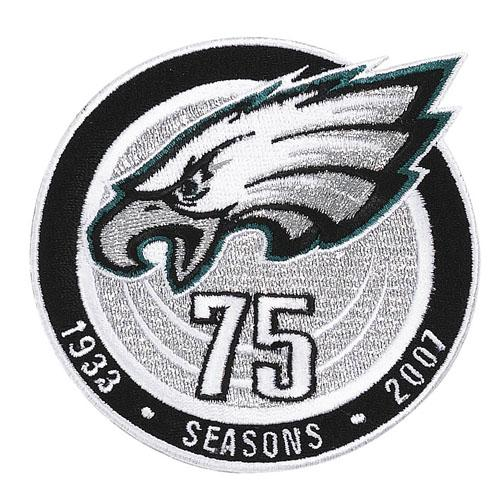 Philadelphia Eagles 75th Anniversary Season Jersey Patch (2007)