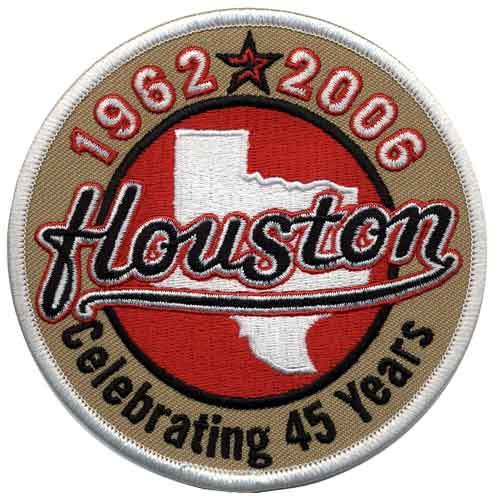 2006 Houston Astros 45th Team Anniversary Season Jersey Sleeve Patch