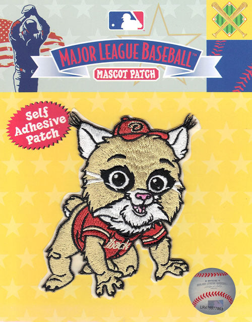 Arizona Diamondbacks Team Baby Mascot 'Baxter the Bobcat' Self-Adhesive Patch