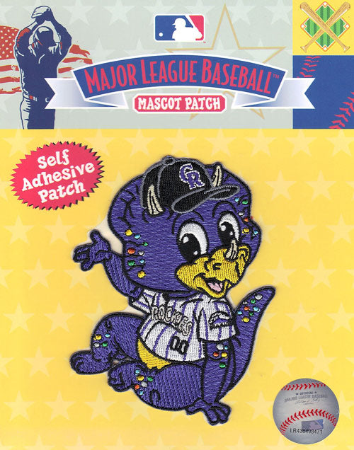 Colorado Rockies Team Baby Mascot 'Dinger' Self-Adhesive Patch