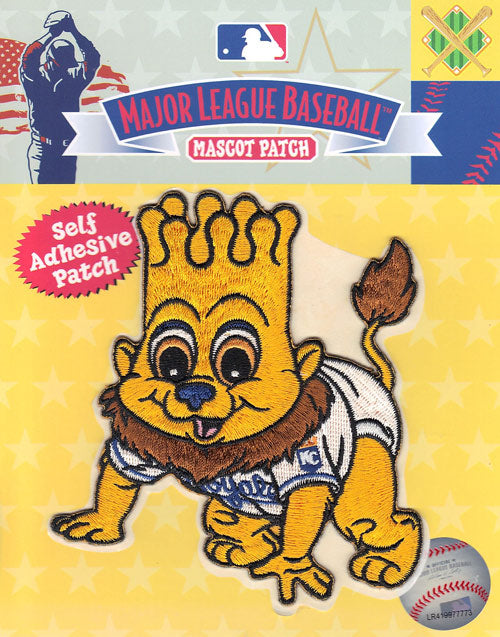 Kansas City Royals Team Baby Mascot 'Sluggerrr' Self-Adhesive Patch