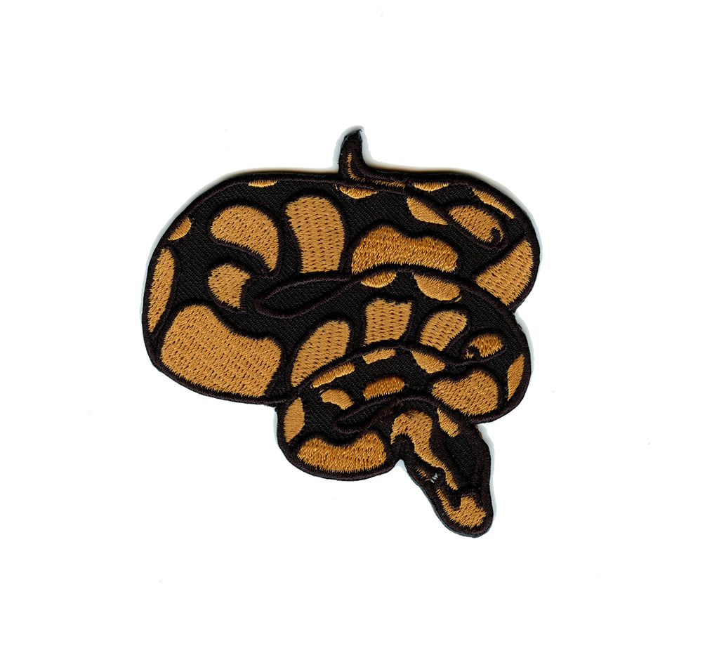 Ball Python Embroidered Iron On Patch