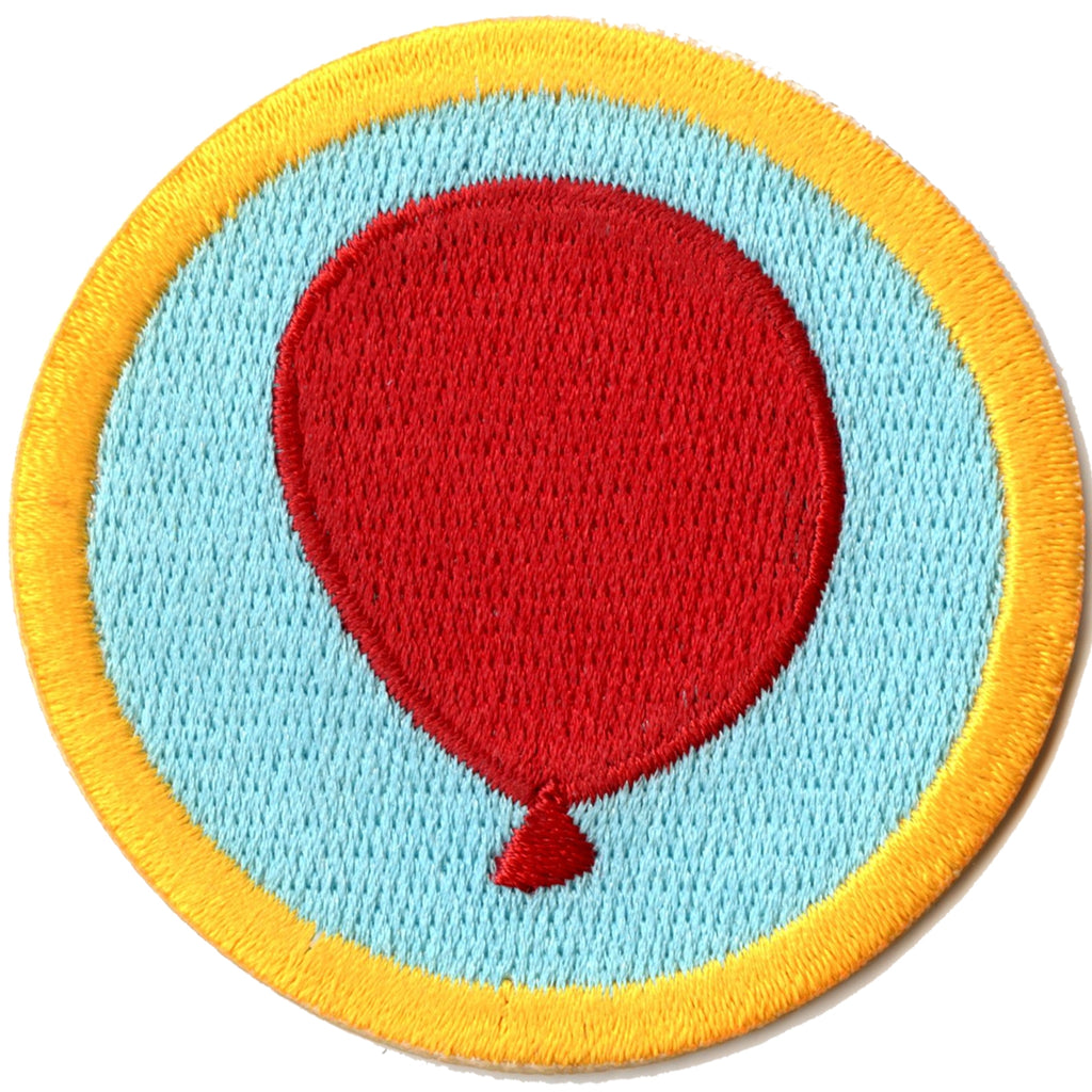 Balloon Tying Merit Badge Embroidered Iron-on Patch