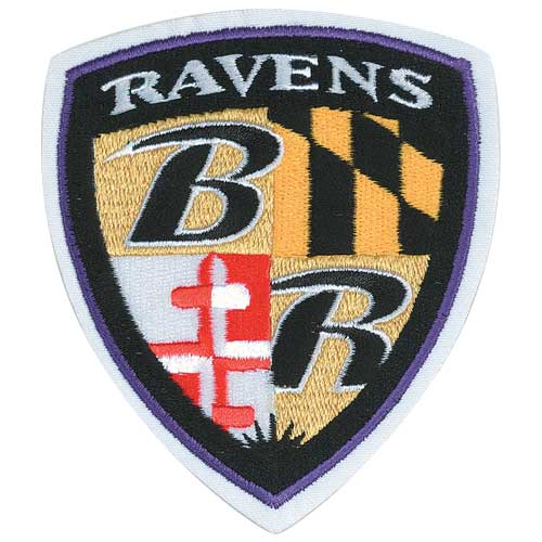 Baltimore Ravens Alternate Shield Team Logo Jersey Sleeve Patch