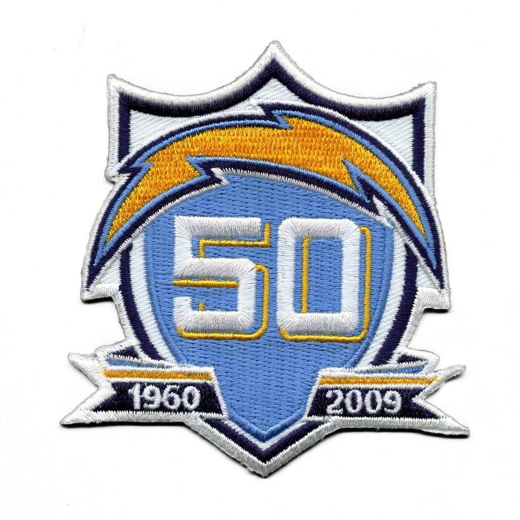 San Diego Chargers 50th Anniversary Patch (2009)