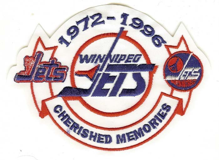 Winnipeg Jets Cherished Memories Patch (1972-1996) White Version