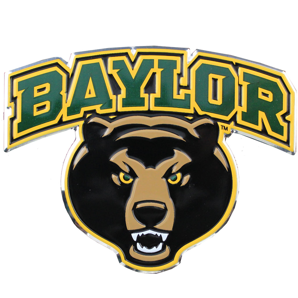Baylor Bears University Colored Aluminum Car Auto Emblem