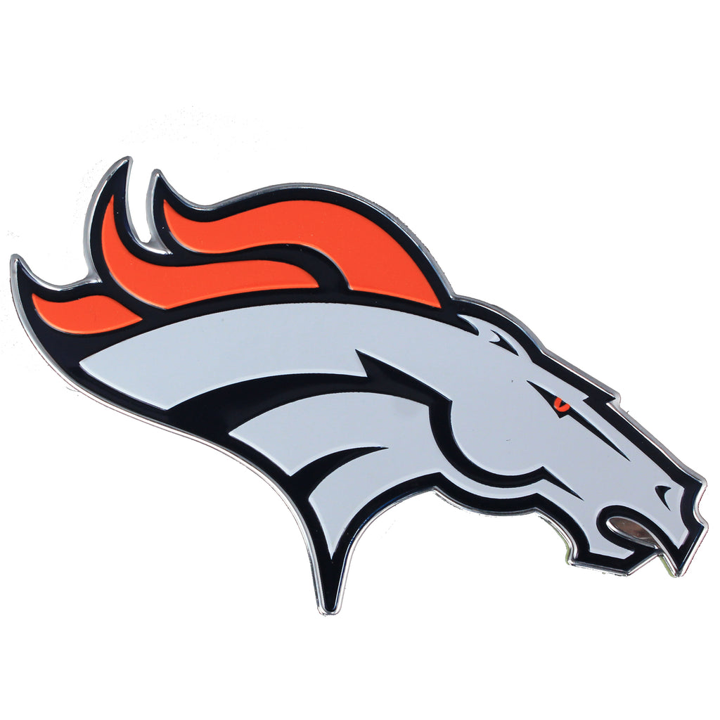 Denver Broncos Colored Aluminum Car Auto Emblem