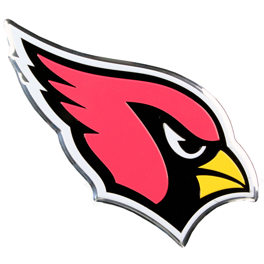 Arizona Cardinals Colored Aluminum Car Auto Emblem