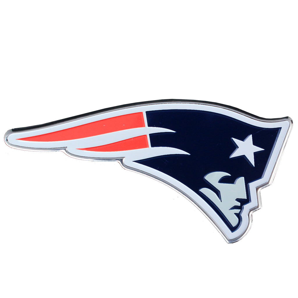 New England Patriots Colored Aluminum Car Auto Emblem