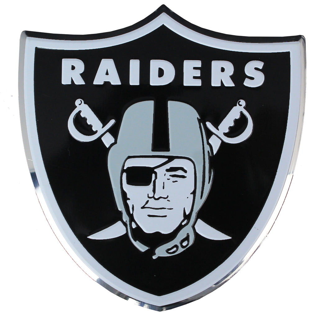 Oakland Raiders Colored Aluminum Car Auto Emblem
