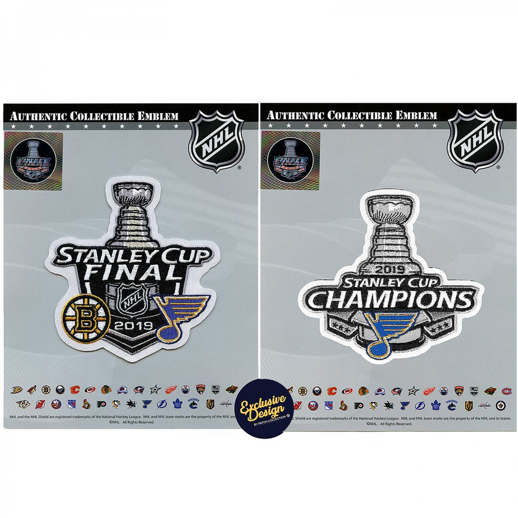 2019 Stanley Cup Final Champions And Dueling St. Louis Blues Jersey Patch Combo
