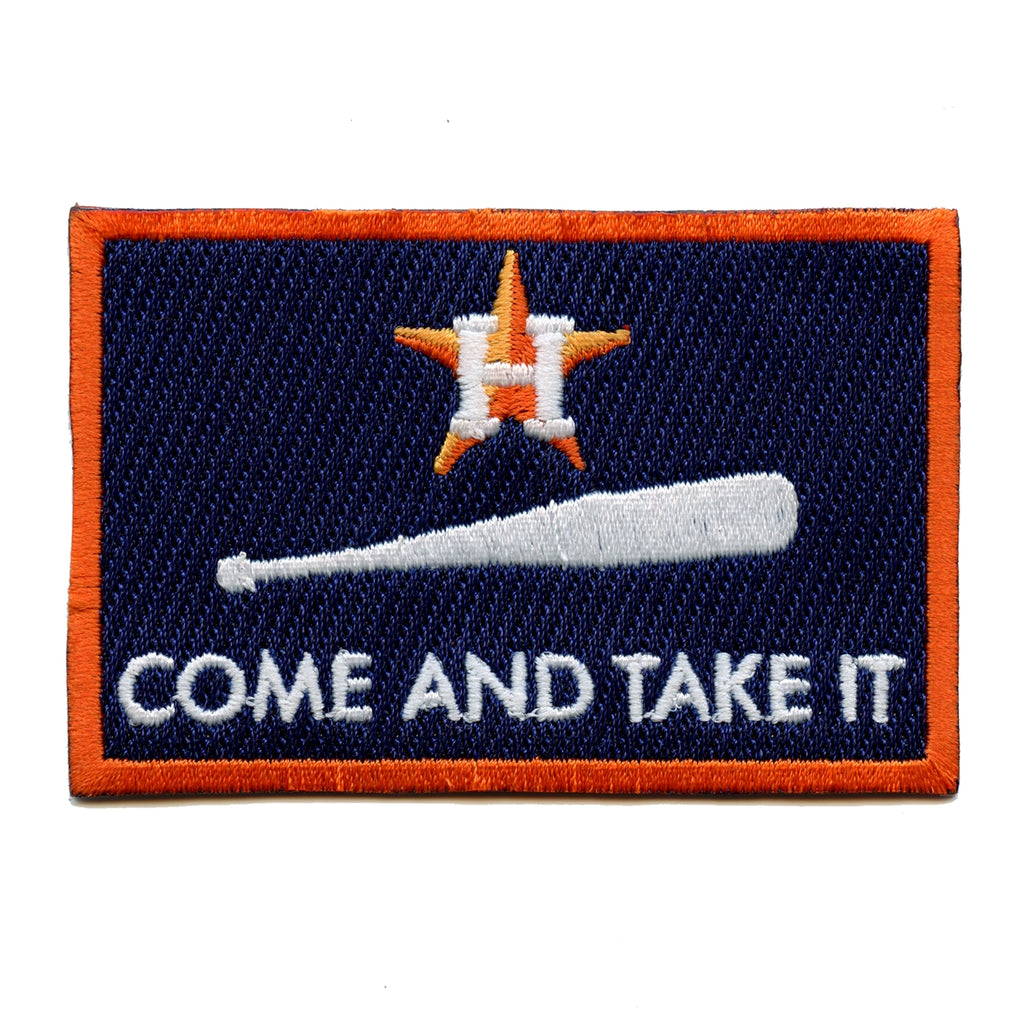 "Houston Baseball Team Parody ""Come and Take It"" Embroidered Iron on Patch"