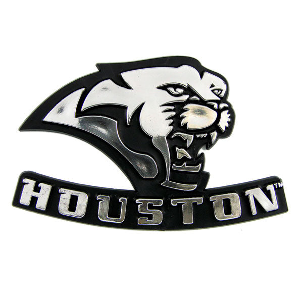 Houston Cougars Car 3D Chrome Auto Emblem