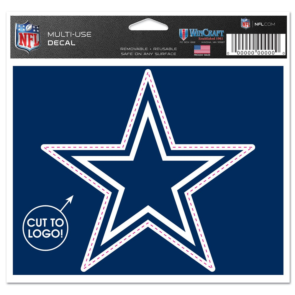 "Dallas Cowboys NFL Multi-Use Decal Sticker 4.5"" X 5.75"""