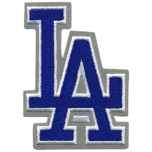 "Los Angeles Dodgers ""L.A."" Script Blue w/ Gray Border Patch"
