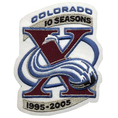 Colorado Avalanche 10th Anniversary Patch (2005-06)