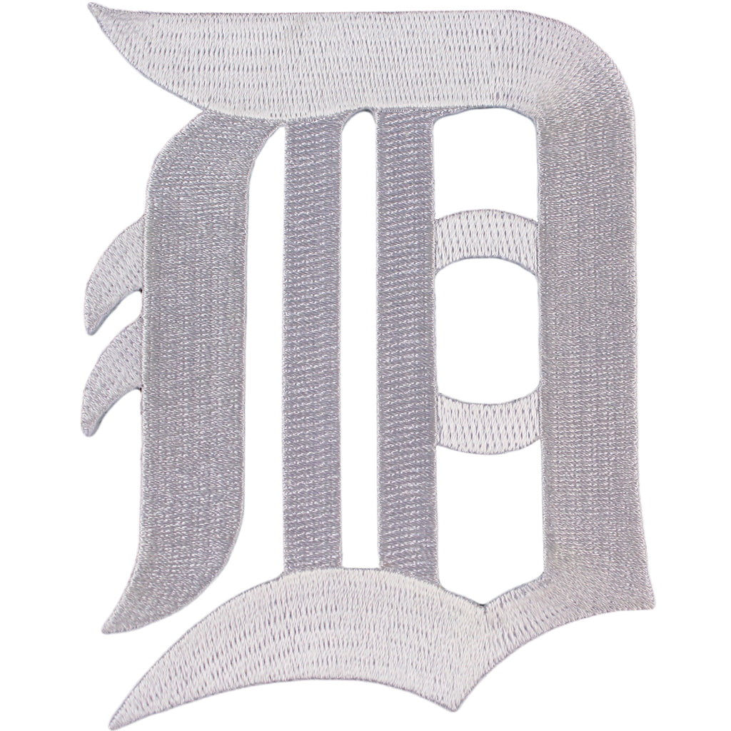 Detroit Tigers Old English Letter 'D' Team Logo Patch (2006-2015) (White)