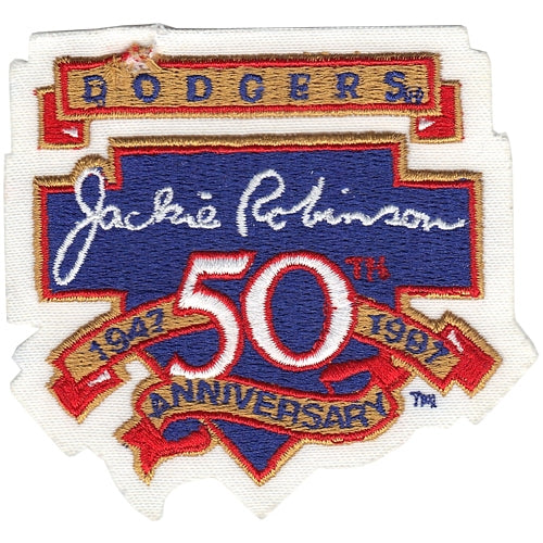 Jackie Robinson 50th Anniversary 'Breaking Barriers' Patch Los Angeles Dodgers Version 1997