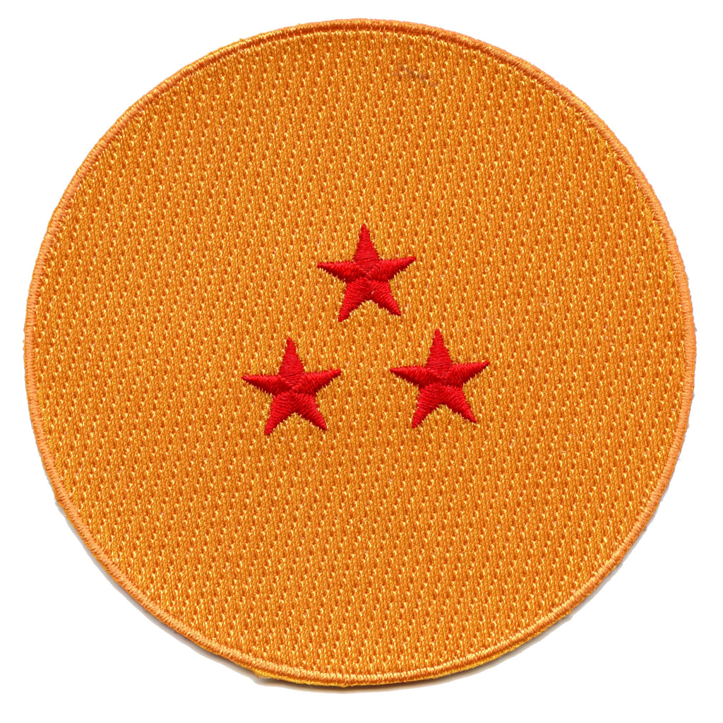 Dragon Ball Z Three Star Dragonball Anime Embroidered Patch