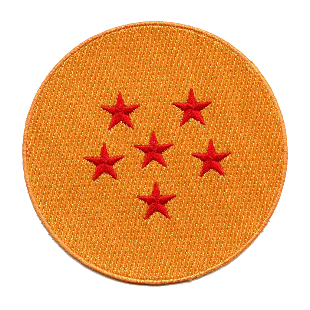 Dragon Ball Z Anime Six Star Dragon Ball Embroidered Patch