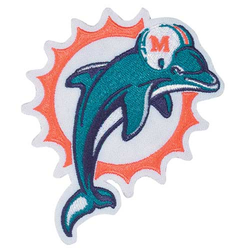 Miami Dolphins Retro Throwback Primary Team Logo Jersey Patch