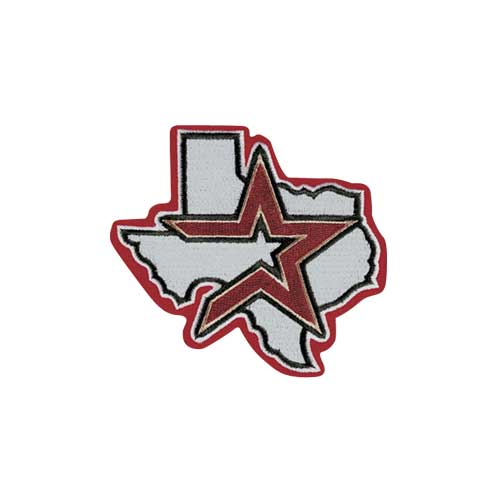 Houston Astros Alternate Jersey Sleeve Patch With Red Border