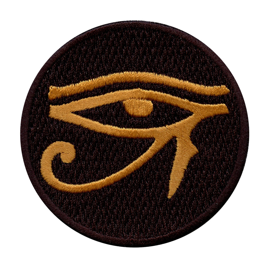 Egyptian Eye Of Horus Round Iron On Patch