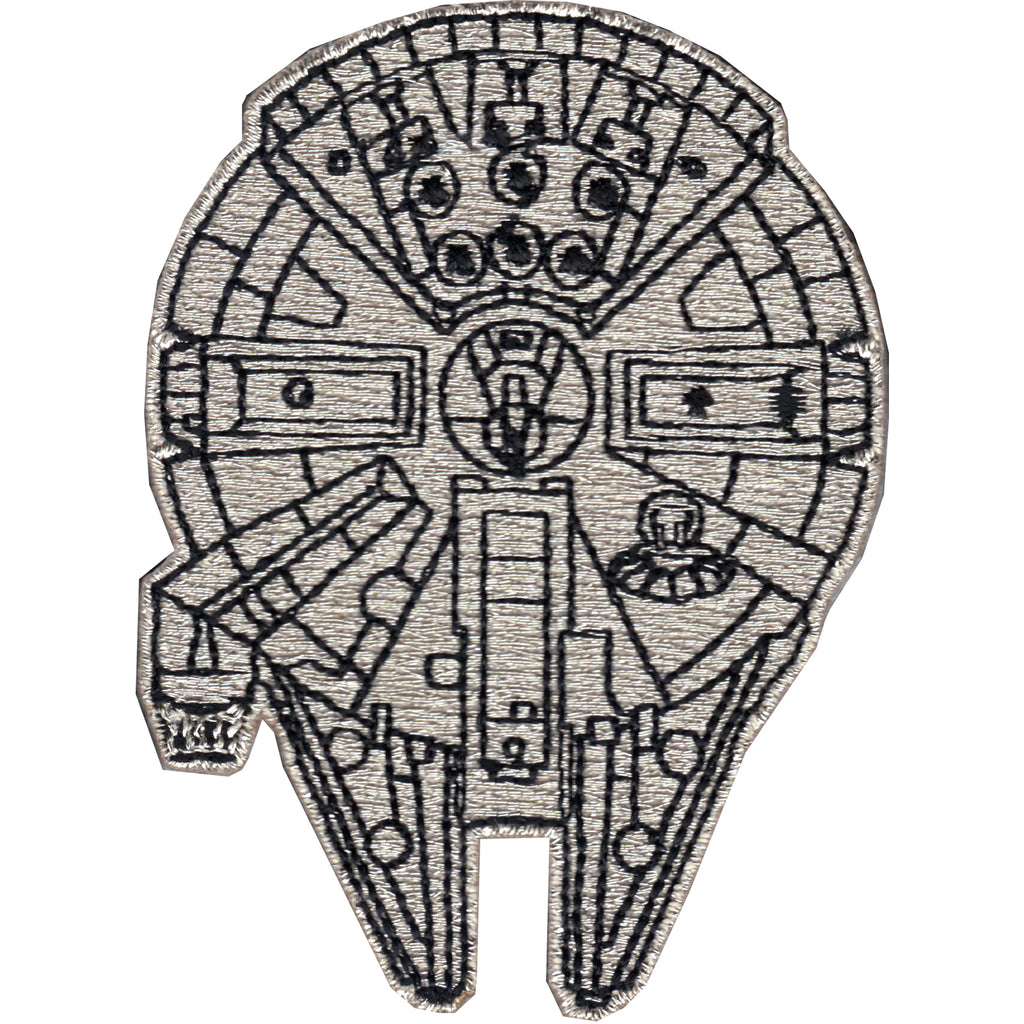 Star Wars Millennium Falcon Top View Iron On Patch
