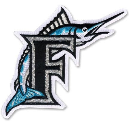 "Florida Marlins ""F"" Logo Sleeve Jersey Patch (1993-2011)"