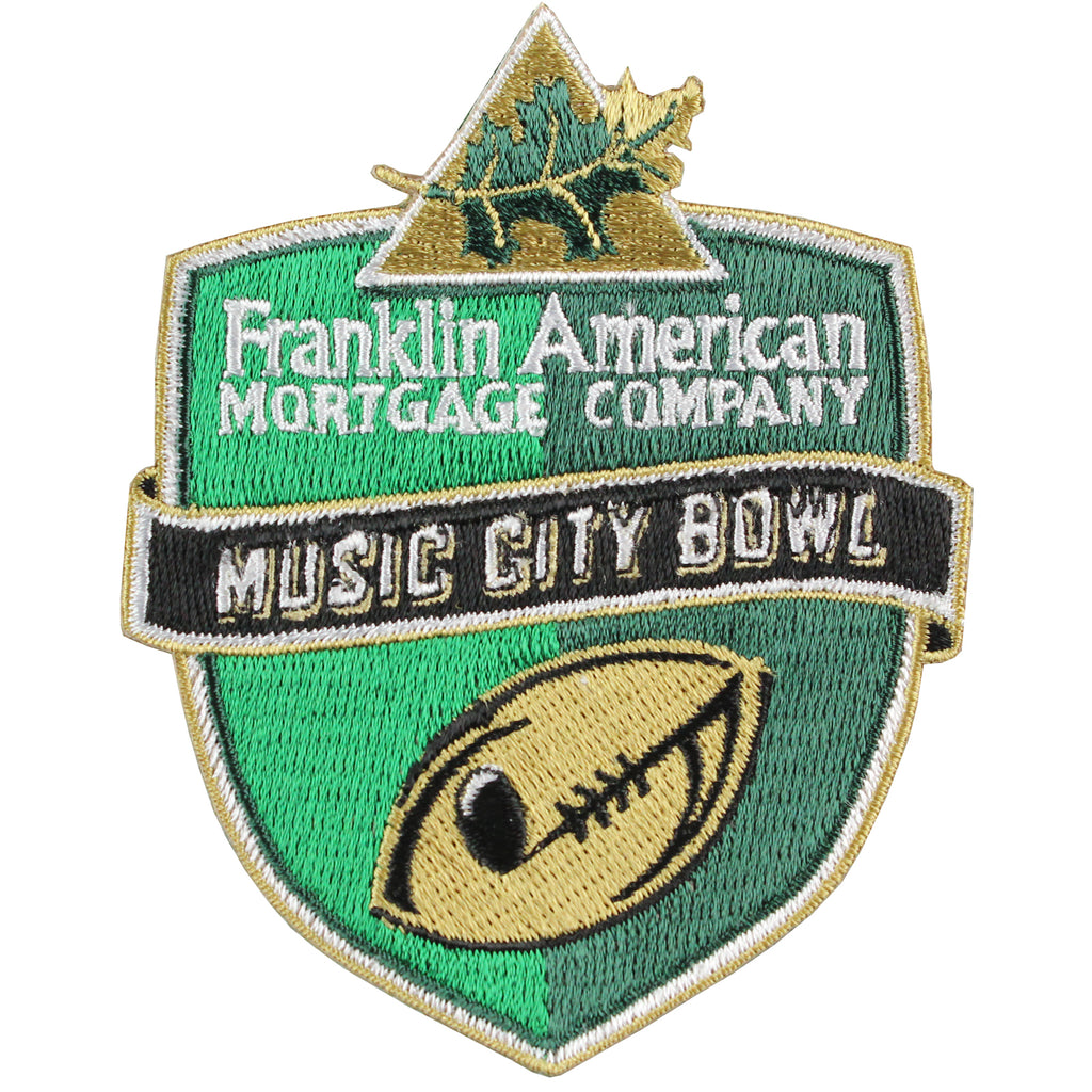 Franklin American Mortgage Company Music City Bowl Jersey Patch Nebraska Vs. Tennessee 2016