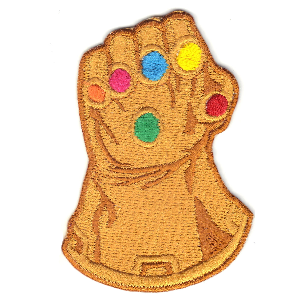 Gems Gold Gauntlet Embroidered Iron On Patch