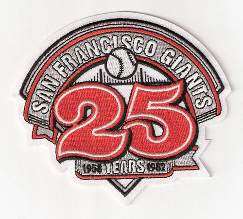 1982 San Francisco Giants 25th Anniversary Patch