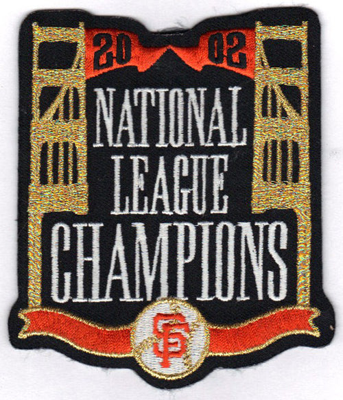 2002 San Francisco Giants National League Champions Jersey Patch