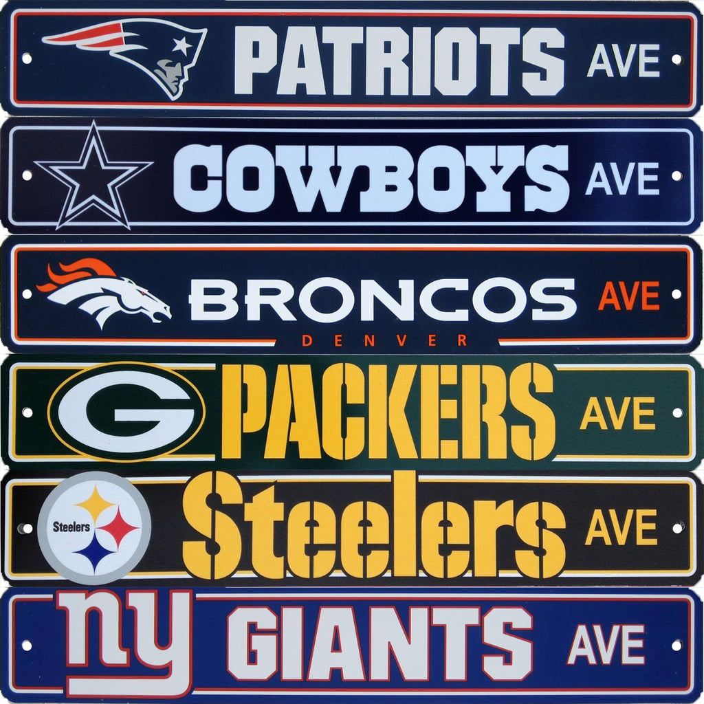 NFL Football Street Sign Ave 4 x 24 Pick Team
